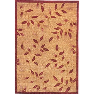 Abbyson Living Hand-knotted 'Serenity' Gold Wool Rug (6' x 9')