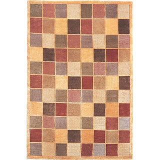 Abbyson Living Hand-knotted Gold 'Windsor' Wool Rug (6' x 9')