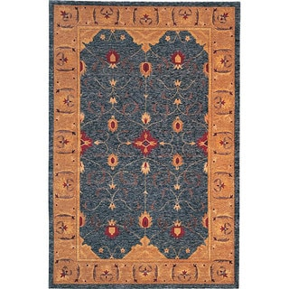 Abbyson Living Hand-knotted 'Destiny' Gold Wool Rug (6' x 9')