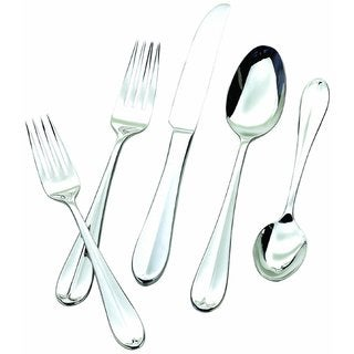 Hampton Forge Silversmiths Lexington Stainless Steel Mirrored 45-Piece Flatware Set