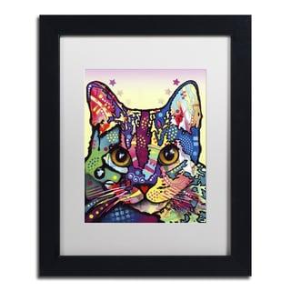 Dean Russo 'Maya Cat' Matted Framed Art
