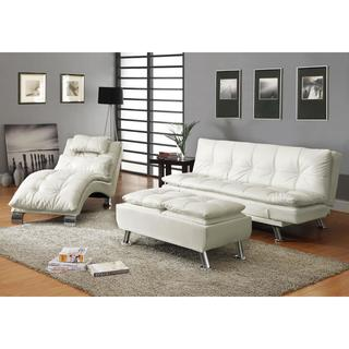Modern Faux Leather Chaise