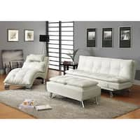 Coaster Company Modern Faux Leather Chaise