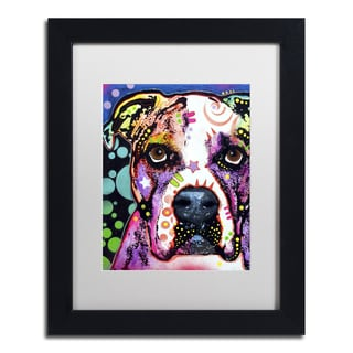 Dean Russo 'American Bulldog II' Matted Framed Art