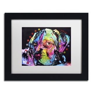 Dean Russo 'Young Mastiff' Matted Framed Art
