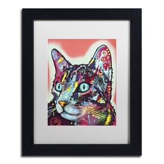 Dean Russo 'Curious Cat' Matted Framed Art