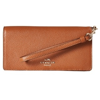 Coach Saddle Leather Slim Wallet