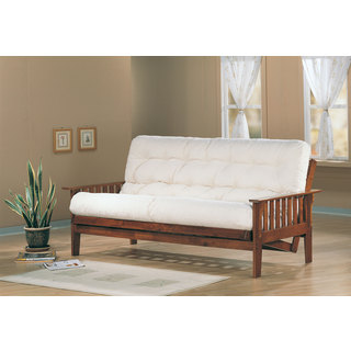 Coaster Company Solid Oak Slat Side Futon Frame
