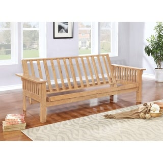 coaster  pany natural finish mission style slat side futon frame deluxe coaster futons for less   overstock    rh   overstock