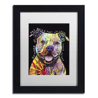 Dean Russo 'Beware of Pit Bulls' Matted Framed Art