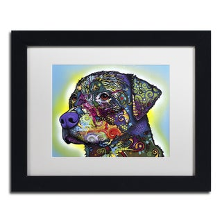 Dean Russo 'The Rottweiler' Matted Framed Art