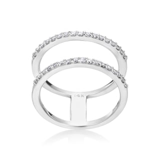 Andrew Charles, 14k White Gold Fashion Double Row Diamond Ring 3/8ct TDW (H-I, SI2-I1)