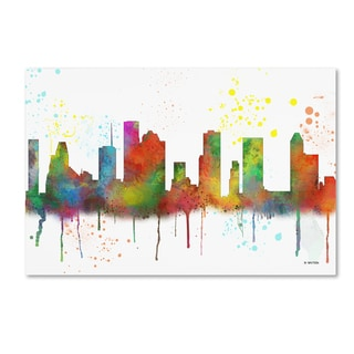 Marlene Watson 'Houston Texas Skyline Mclr-1' Canvas Art