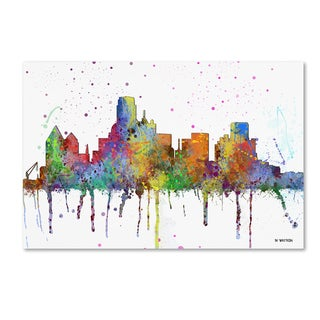 Marlene Watson 'Dallas Texas Skyline Mclr-1' Canvas Art