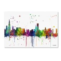Marlene Watson 'Chicago Illinois Skyline Mclr-1' Canvas Art