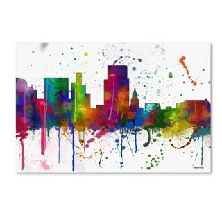 Marlene Watson 'Boise Idaho Skyline Mclr-1' Canvas Art