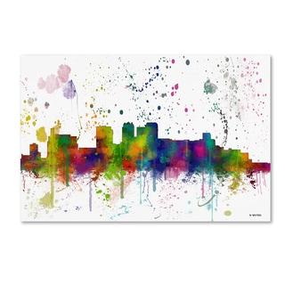 Marlene Watson 'Birmingham Alabama Skyline Mclr-1' Canvas Art