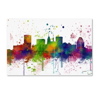 Marlene Watson 'Baltimore Maryland Skyline Mclr-1' Canvas Art