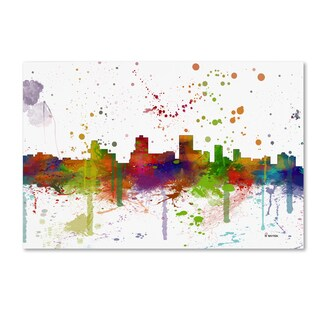Marlene Watson 'Anchorage Alaska Skyline Mclr-1' Canvas Art