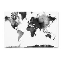 Marlene Watson 'World Map BG-1' Canvas Art