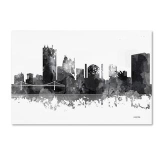 Marlene Watson 'Toledo Ohio Skyline BG-1' Canvas Art