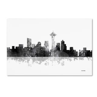 Marlene Watson 'Seattle Washington Skyline BG-1' Canvas Art