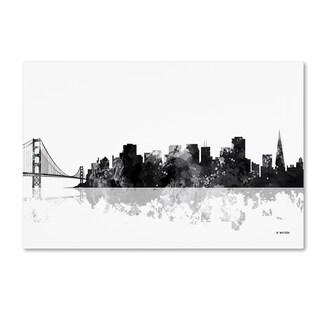 Marlene Watson 'San Francisco California Skyline BG-1' Canvas Art