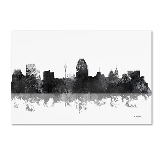 Marlene Watson 'San Antonio Texas Skyline BG-1' Canvas Art