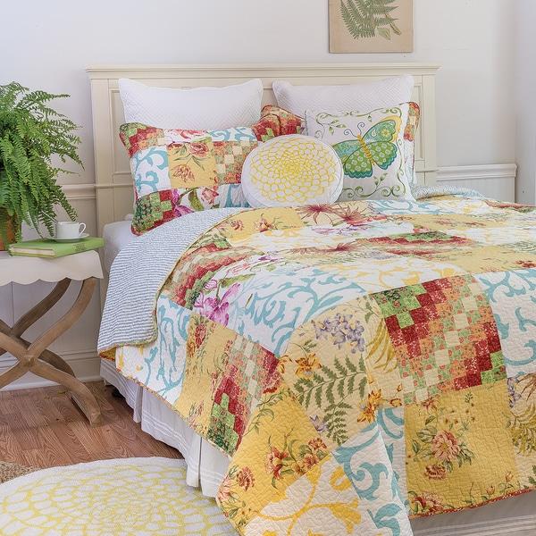 Alese Patchwork Cotton 3-Piece Quilt Set