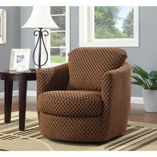 coaster company printed swivel barrel chair - Swivel Rocker Chairs For Living Room