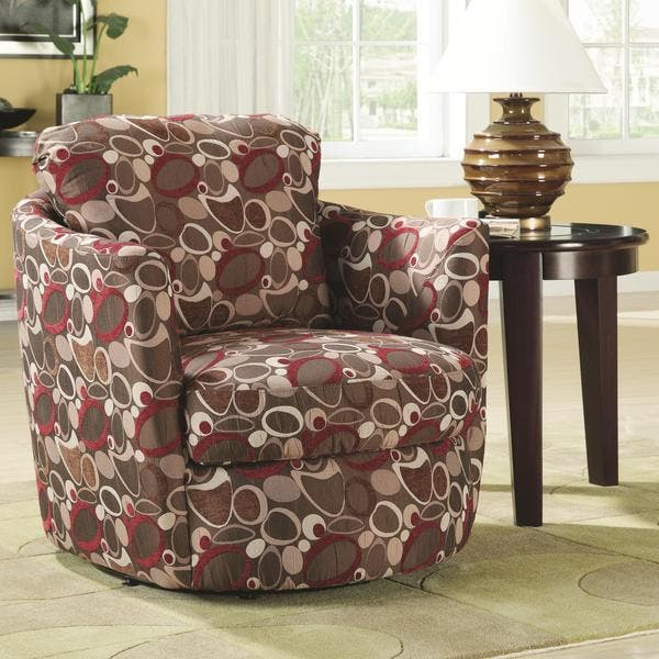 Stupendous Shop Coaster Company Printed Swivel Barrel Chair Free Caraccident5 Cool Chair Designs And Ideas Caraccident5Info
