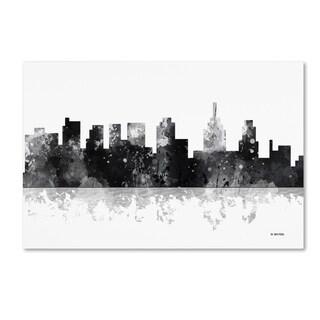 Marlene Watson 'Philadelphia Skyline BG-1' Canvas Art