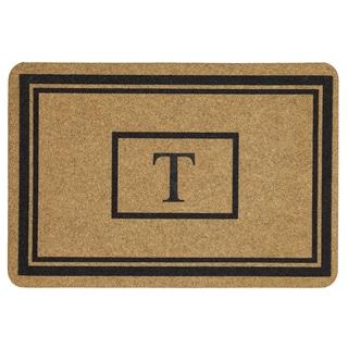 Mohawk Home Grand Terrace Natural Monogram T (1'11 x 2'11)