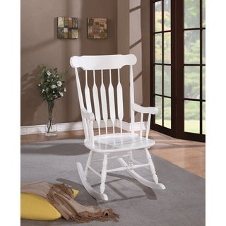 Coaster Company White Wood Rocking Chair