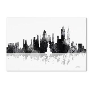 Marlene Watson 'New York New York Skyline BG-1' Canvas Art