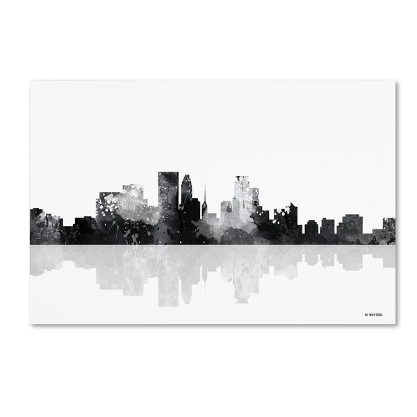 Marlene Watson 'Minneapolis Minnesota Skyline BG-1' Canvas Art - Multi
