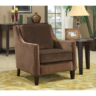 Basket-weave Microvelvet Accent Chair