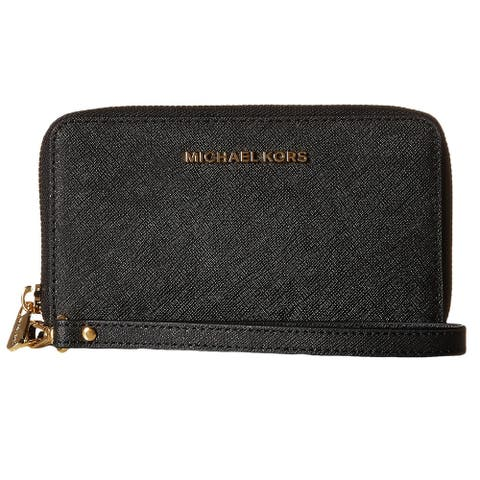 Michael Kors Jet Set Travel Large Black Smartphone Wrislet Wallet