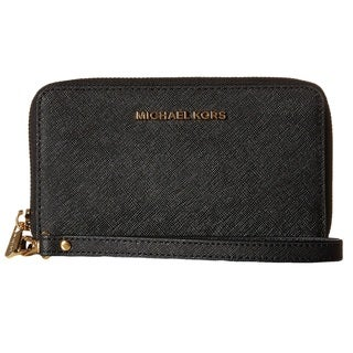 Michael Kors Jet Set Travel Large Black Smartphone Wrislet Wallet