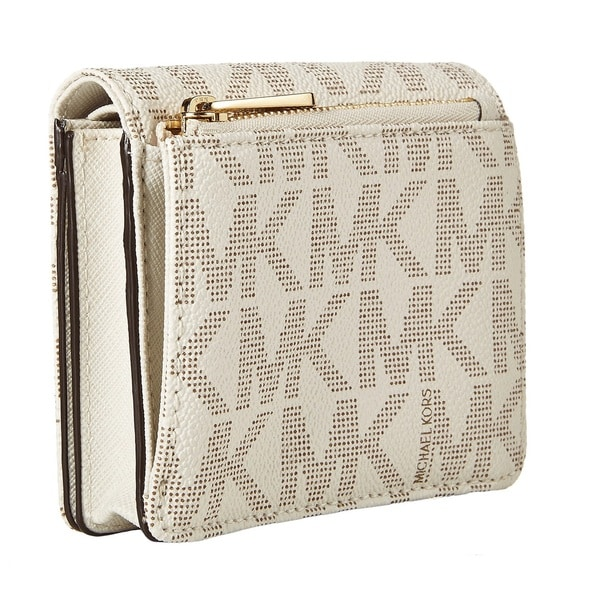 Michael Kors Jet Set Travel Vanilla Carry All Card Case Wallet - Free  Shipping Today - Overstock.com - 19035593
