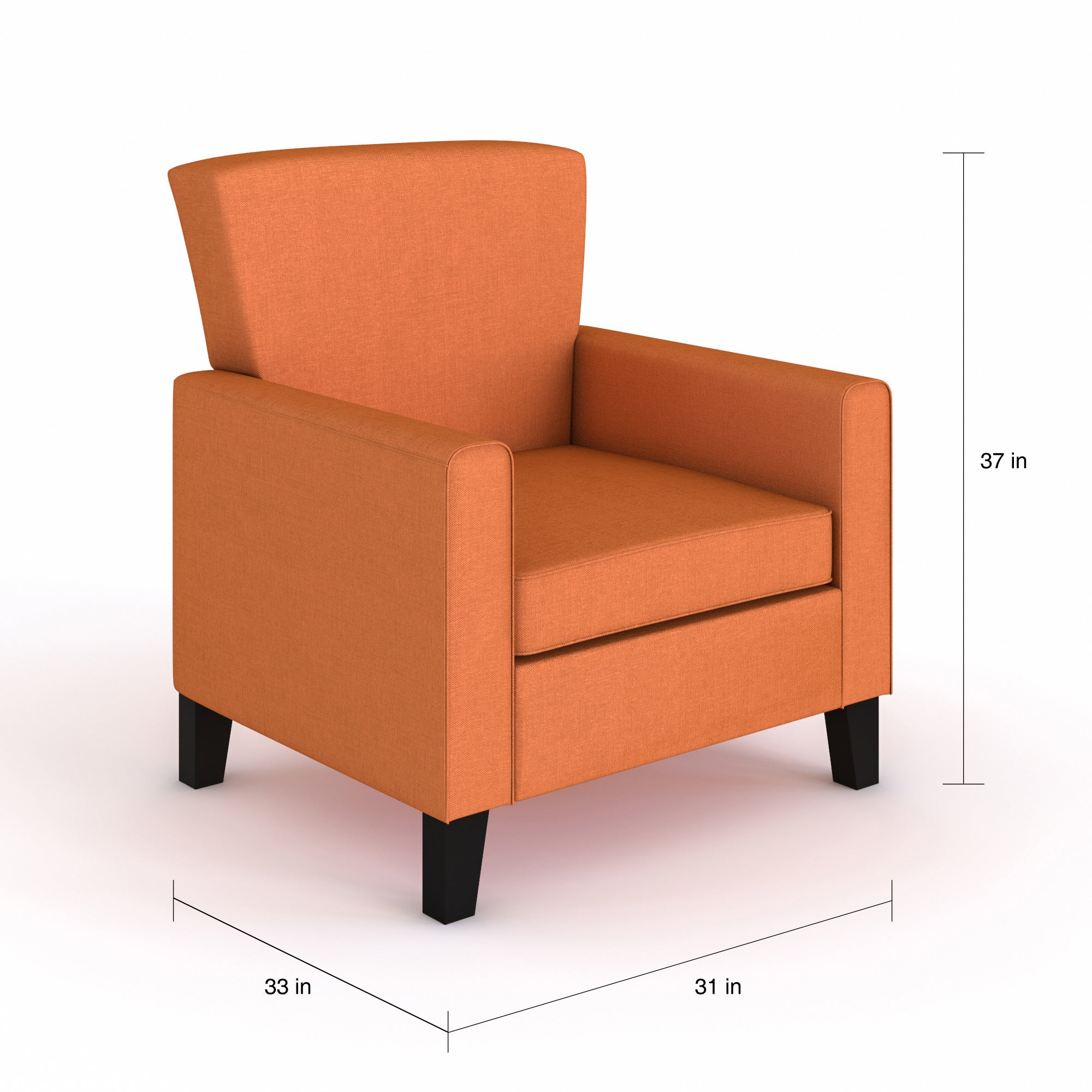Superb Porch Den Tallman Orange Accent Chair 30 X 32 X 37 Pdpeps Interior Chair Design Pdpepsorg