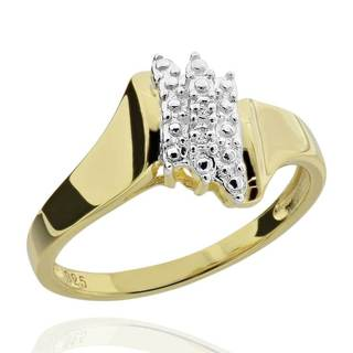 Goldplated Sterling Silver Two-tone Diamond Accent Ring (China)