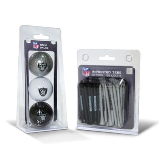 Oakland Raiders NFL Golf Ball and Tee Set