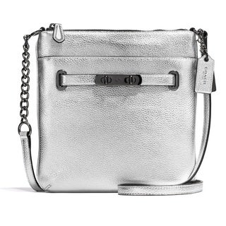 Coach Polished Pebbled Leather Swagger Swingpack