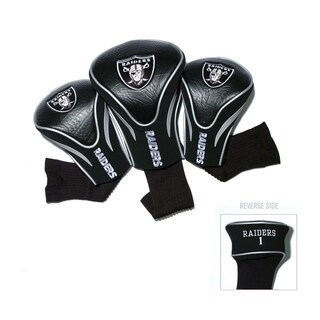Oakland Raiders NFL Contour Wood Headcover Set