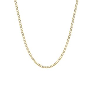 Decadence 14k Yellow Gold 150 Lite Cuban White Pave Chain
