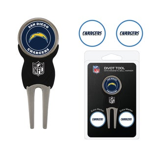 NFL San Diego Chargers Golf Divot Tool Pack