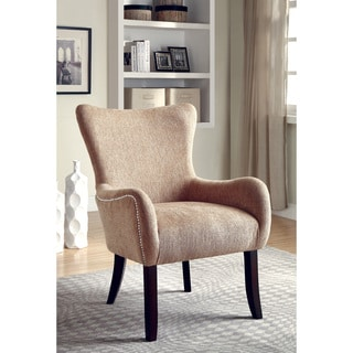 Coaster Upholstered Wingback Chair (Beige)