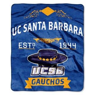 COL 670 UC Santa Barbara 'Label' Raschel Throw