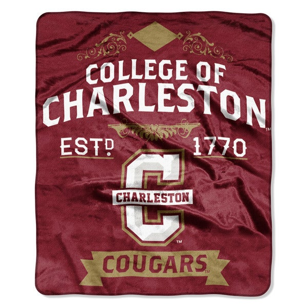 COL 670 Charleston College 'Label' Raschel Throw